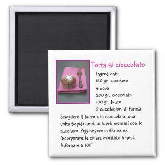 Torta al cioccolato 2 inch square magnet