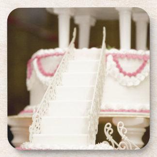 Torta blanca posavasos de bebidas