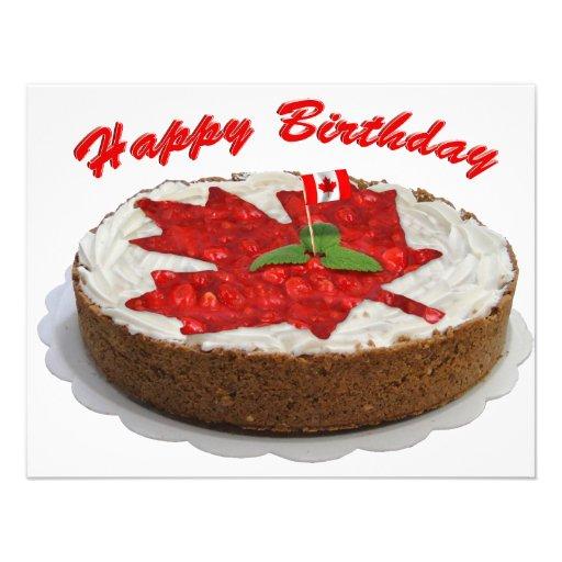 Torta canadiense de la hoja de arce de la cereza