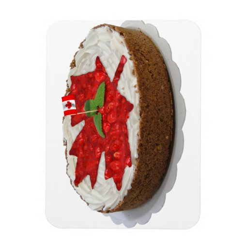 Torta canadiense de la hoja de arce de la cereza imanes de vinilo