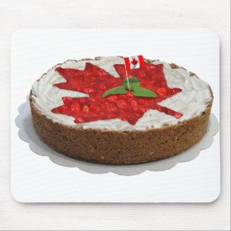 Torta canadiense de la hoja de arce de la cereza tapetes de raton
