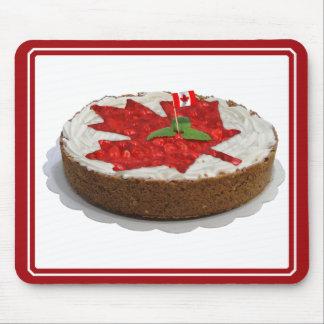Torta canadiense de la hoja de arce de la cereza alfombrillas de raton