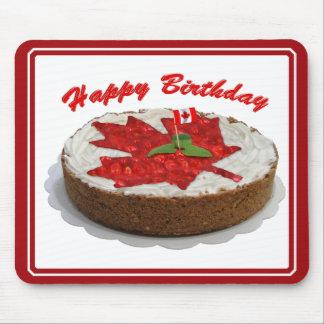 Torta canadiense de la hoja de arce de la cereza alfombrilla de ratón