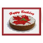 Torta canadiense de la hoja de arce de la cereza tarjetas