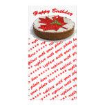 Torta canadiense de la hoja de arce de la cereza tarjeta fotográfica personalizada