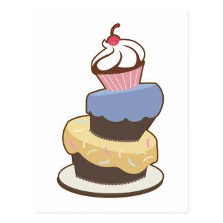 torta con gradas 3 postal