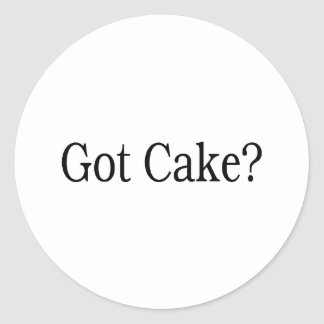 Torta conseguida etiqueta redonda