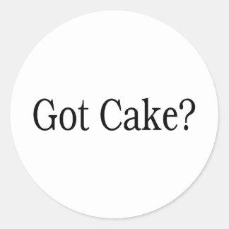 Torta conseguida pegatina redonda