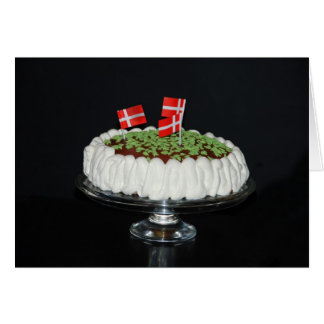 Torta danesa de la celebración tarjeta de felicitación
