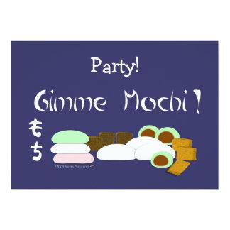 """Torta de arroz pegajoso de Gimme Mochi Invitación 5"""" X 7"""""""