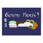Torta de arroz pegajoso de Gimme Mochi Tarjeta De Felicitación