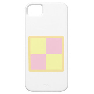 Torta de Battenburg. Rosa y amarillo Funda Para iPhone 5 Barely There