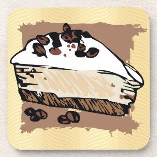 Torta de café posavasos