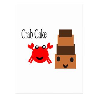 Torta de cangrejo del dibujo animado 2.5s tarjetas postales