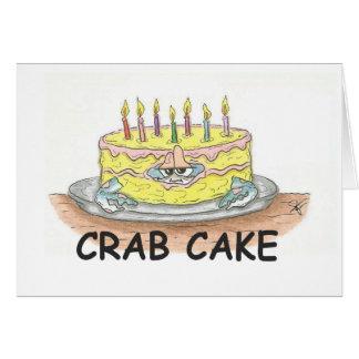 Torta de cangrejo felicitaciones