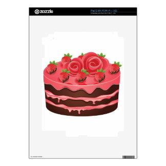 Torta de chocolate adornada iPad 2 calcomanía