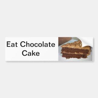 Torta de chocolate pegatina para auto