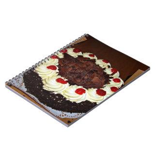 Torta de chocolate con crema libros de apuntes