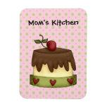 Torta de chocolate de la cocina de las mamáes (aña imanes rectangulares