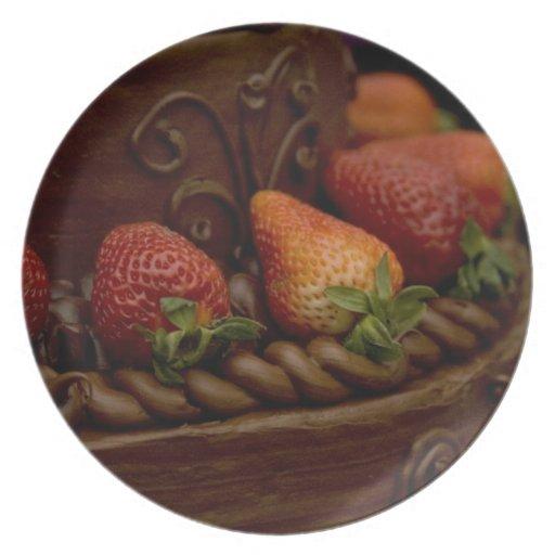 Torta de chocolate de la fresa platos