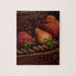 Torta de chocolate de la fresa puzzle con fotos