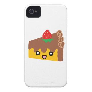 Torta de chocolate feliz iPhone 4 Case-Mate cárcasas