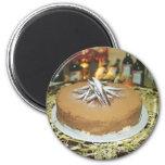 Torta de chocolate imán de frigorifico