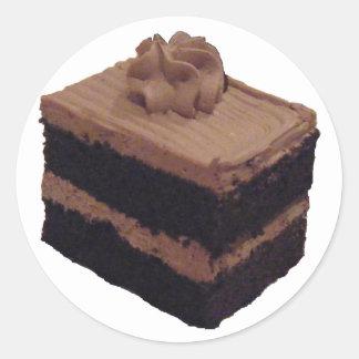 Torta de chocolate pegatina redonda
