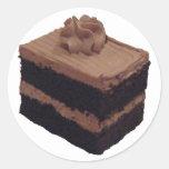 Torta de chocolate pegatinas redondas