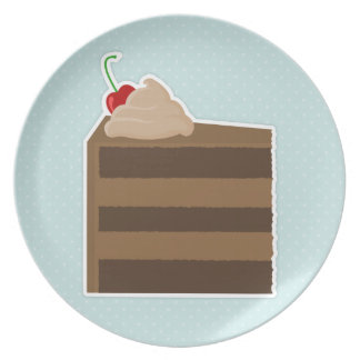 Torta de chocolate plato