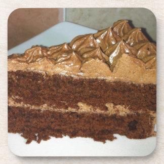 Torta de chocolate posavasos de bebida