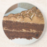 Torta de chocolate posavasos diseño