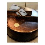 Torta de chocolate postal