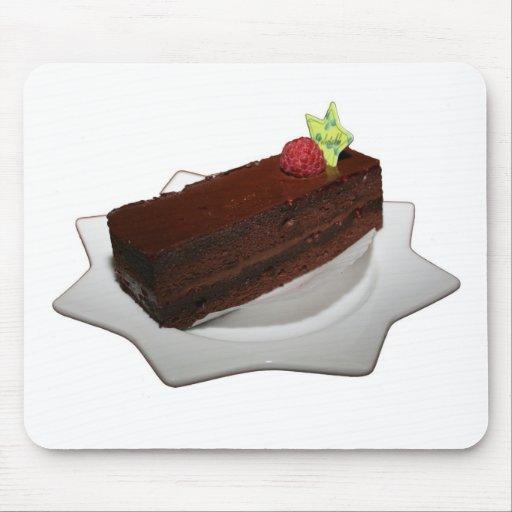 Torta de chocolate tapete de ratón