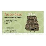 Torta de chocolate tarjeta de negocio