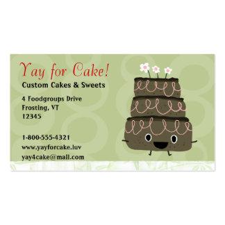 Torta de chocolate tarjetas de visita