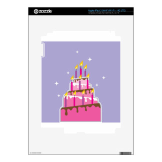 Torta de cumpleaños 10 velas iPad 3 skins