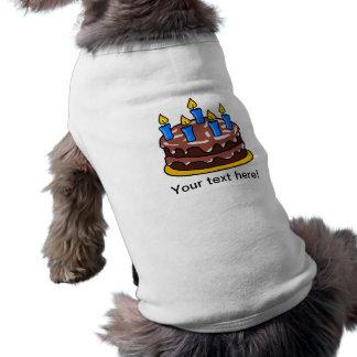 Torta de cumpleaños camisa de mascota