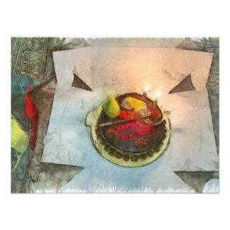 Torta de cumpleaños cojinete