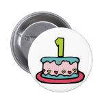 Torta de cumpleaños con edad pin