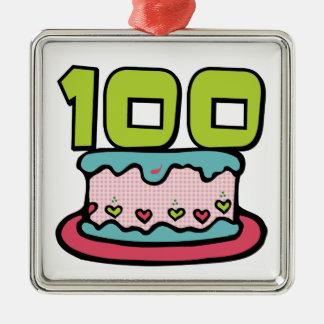 Torta de cumpleaños de 100 años ornamentos de reyes