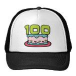 Torta de cumpleaños de 100 años gorro