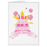 Torta de cumpleaños de 101 años tarjeta