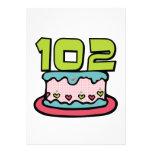 Torta de cumpleaños de 102 años anuncio