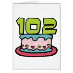 Torta de cumpleaños de 102 años felicitacion