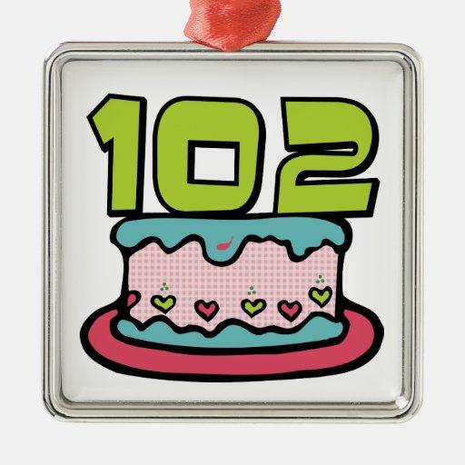 Torta de cumpleaños de 102 años ornamente de reyes