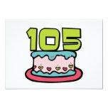 Torta de cumpleaños de 105 años invitación 12,7 x 17,8 cm