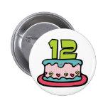 Torta de cumpleaños de 12 años pins
