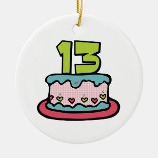 Torta de cumpleaños de 13 años adorno