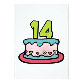 Torta de cumpleaños de 14 años invitacion personal